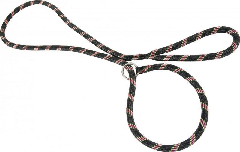 Zolux Smycz nylonowa z obrożą - czarna - sznur lasso 1,8m