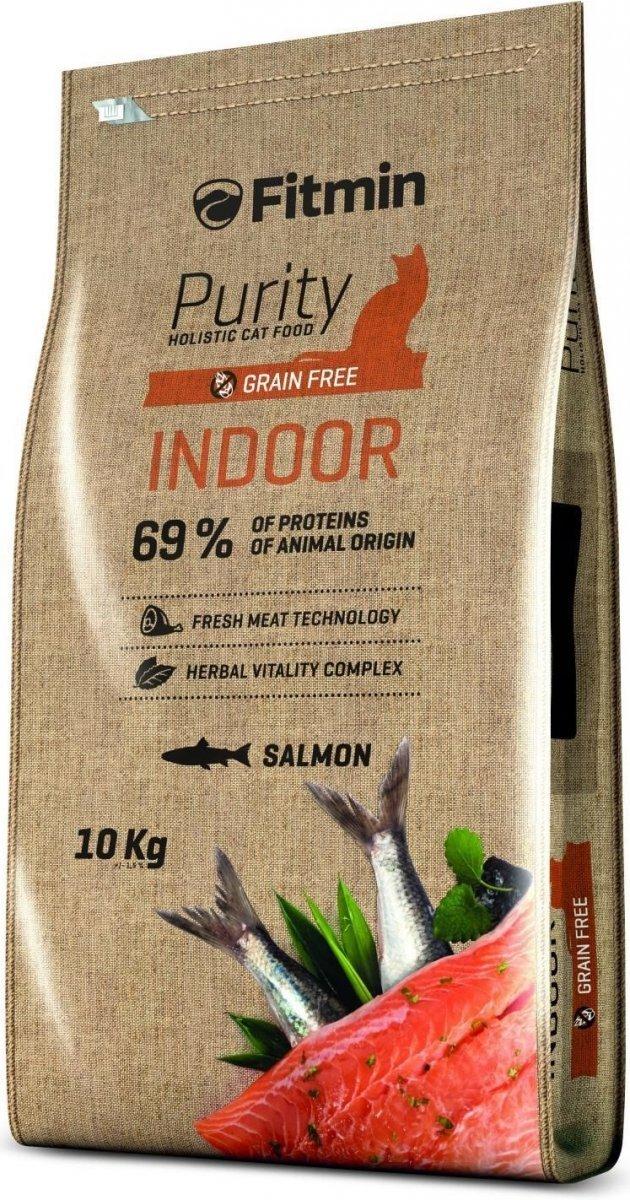 Fitmin Purity Indoor - karma dla dorosłych kotów przebywających w domu 10kg