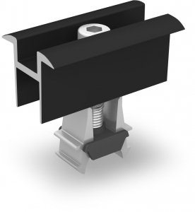 K2 OneMid uniwersalna klema środkowa, zestaw, czarna (32-42mm)