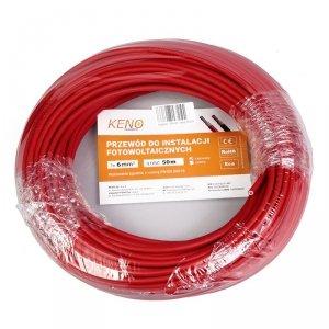 Przewód KENO 6mm2 czerwony opakowanie 50m