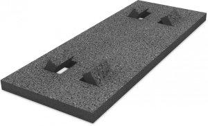 K2 Płyta gumowa ochronna, dach płaski, 470x180x18 mm z folią aluminiową (izolacja PVC)
