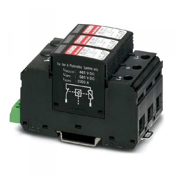 Ogranicznik przepięć DC T1/T2 PV VAL-MS-T1/T2 1000 DC-PC/2+VOgranicznik przepięć 1000V DC Typ 1+2, Phoenix, OCHRONA T1/T2 PV VAL-MS-T1/T2 1000 DC-PC/2+V