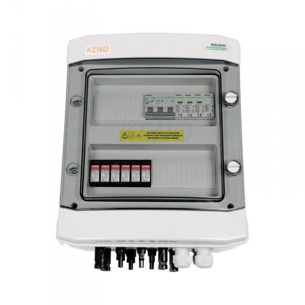 Skrzynka przył. DC+AC  z ogranicznikiem przepięć 1000V typu 1+2, 2 x łańcuch PV, 2 x MPPT // ogr. AC typ 1+2, 20A 3-F