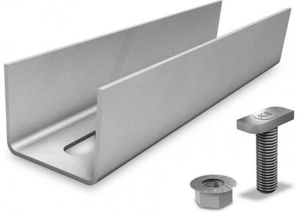 K2 zestawy zlaczy do polaczenia dwóch szyn aluminiowych Medium and Alpine (w tym 2 sruby z nakretakmi)