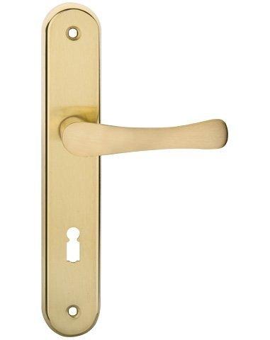 Klamka kluczyk 72mm Metal-Bud Biszkopt mosiądz