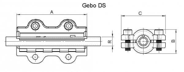 Obejma naprawcza DS długa DN25