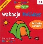 Wakacje Holidays. Kolorowanki polsko-angielskie