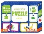 Owoce - dwustronne puzzle. Rysuję i poznaję