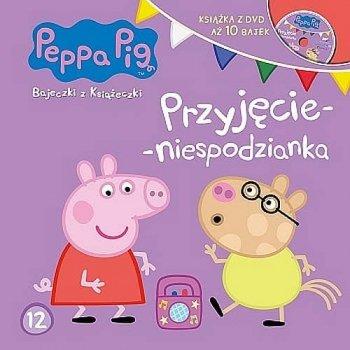 Peppa pig. Przyjęcie-niespodzianka. Bajeczki z książeczki + DVD