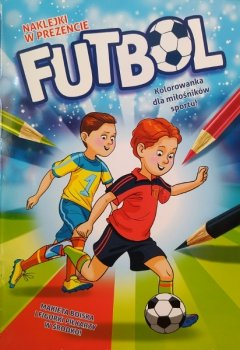 Futbol naklejki. Kolorowanka