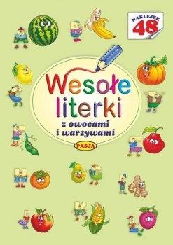 Wesołe literki z owocami i warzywami. 48 naklejek