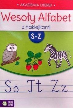 Akademia literek. Wesoły alfabet z naklejkami. S-Z