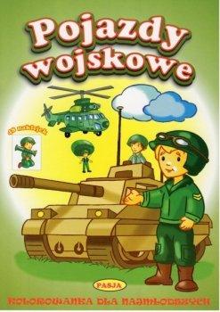 Kolorowanka dla najmłodszych. Pojazdy wojskowe