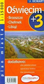 Oświęcim plus 3. Plan miasta 1: 15 000
