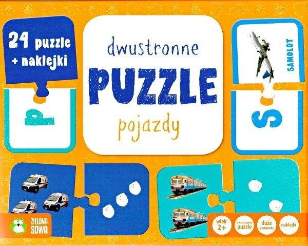 Pojazdy - dwustronne puzzle