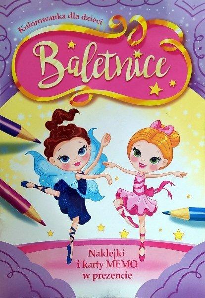 Baletnice. Kolorowanka z naklejkami