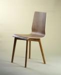 LUKA W - krzesło laminowane, dębowa rama