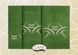 Komplet Ręczników Capri Zielono Kremowe
