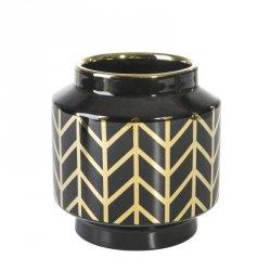 Wazon dekoracyjny EMERA1 15X16 Czarny+Złoty
