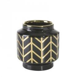 Wazon dekoracyjny EMERA1 12X13 Czarny+Złoty