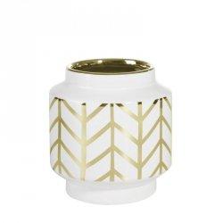 Wazon dekoracyjny EMERA3 12X13 Biały+Złoty
