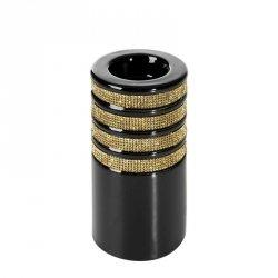 Świecznik dekoracyjny OSKAR2 7.5X7.5X15 Czarny+Złoty