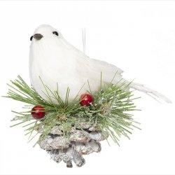 Ozdoba świąteczna NEST 4-1 21CM Ptak