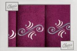Komplet ręczników LENA 11 3 Fiolet Krem