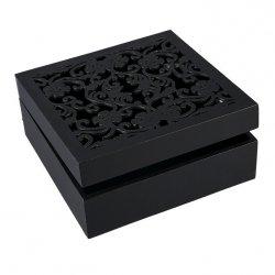 Pudełko FIORE 02 Czarne 20X20X8