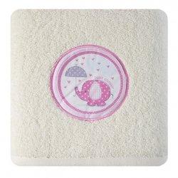Ręcznik dziecięcy BABY19 Krem 70X140 500gsm
