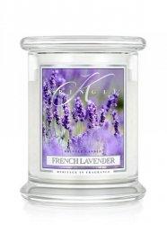 Kringle Candle - French Lavender - średni, klasyczny słoik (411g) z 2 knotami