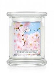 Kringle Candle - Cherry Blossom - średni, klasyczny słoik (454g) z 2 knotami