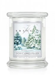 Kringle Candle - Snow Capped Fraser - średni, klasyczny słoik (411g) z 2 knotami
