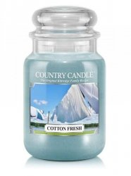 Country Candle - Cotton Fresh - Duży słoik (652g) 2 knoty
