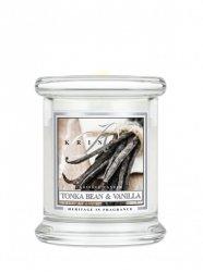 Kringle Candle - Tonka Bean & Vanilla - mini, klasyczny słoik (128g)