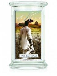 Kringle Candle - Far Far Away - duży, klasyczny słoik (623g) z 2 knotami