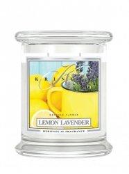Kringle Candle - Lemon Lavender - średni, klasyczny słoik (411g) z 2 knotami