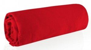 Prześcieradło JERSEY 140X200 z gumką Czerwone Eurofirany