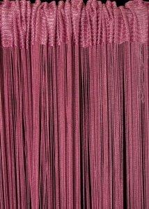 Firana SPAGETTI 6 150X280 Różowy