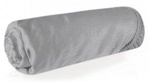 Prześcieradło NOVA3 z makosatyny 180X200 z gumką Srebrne Eurofirany