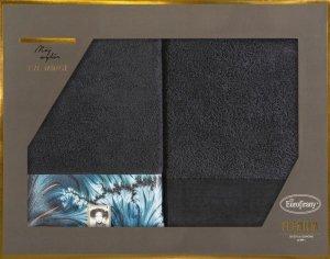 Eva Minge Komplet Ręczników CHIARA 50x90 Czarny Eurofirany