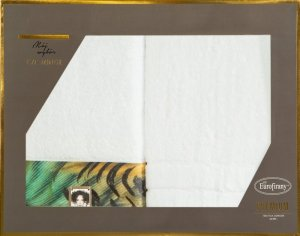 Eva Minge Komplet Ręczników COLLIN 50x90 Biały Eurofirany