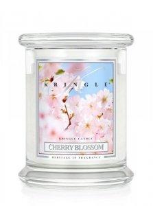 Kringle Candle - Cherry Blossom - średni, klasyczny słoik (411g) z 2 knotami