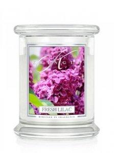 Kringle Candle - Fresh Lilac - średni, klasyczny słoik (411g) z 2 knotami