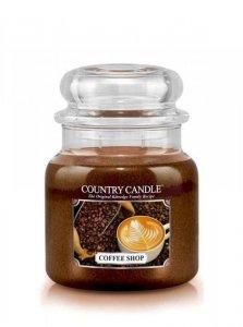 Country Candle - Coffee Shop -  Średni słoik (453g) 2 knoty
