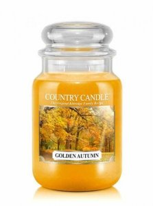 Country Candle - Golden Autumn - Duży słoik (652g) 2 knoty