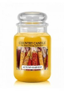 Country Candle - Autumn Harvest - Duży słoik (652g) 2 knoty