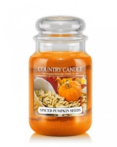 Country Candle - Spiced Pumpkin Seeds - Duży słoik (652g) 2 knoty