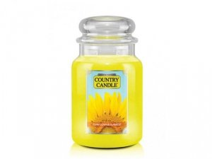 Country Candle - Sunflower Sunrise - Duży słoik (680g) 2 knoty