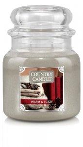 Country Candle - Warm and Fuzzy -  Średni słoik (453g) 2 knoty